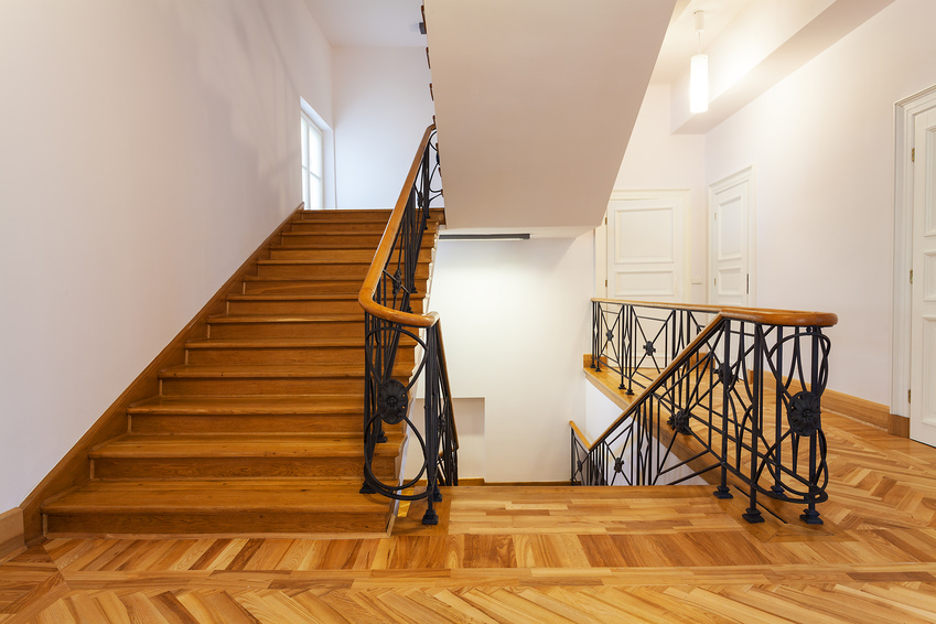Front view of an elegant new staircase